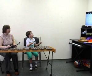 Аутизм. Музыкально-коммуникативное занятие.